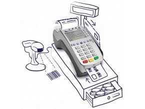 EET pokladna  VX520 = 3 v 1  funkce i jako platební terminál VX520  EET pokladna  VX520 + platba kartou + elektronické stravenky